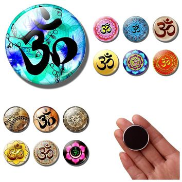 Om Symbol fridge magnet decor Spiritual Yoga Meditation Buddhist Namaste religion Mandala Jewelry Datura refrigerator magnets