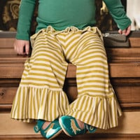 Persnickety Green Striped Bell Pant PREORDER