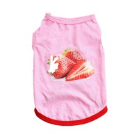 Dog Summer Strawberry Vest