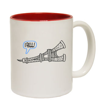 123t USA I Fell ... Eiffel Tower Funny Mug