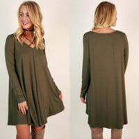 V-neck Comfy Loose dress B0015528