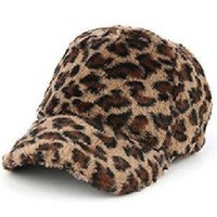 womens animal LEOPARD PRINT SOFT Faux FUR  HAT CAP One size