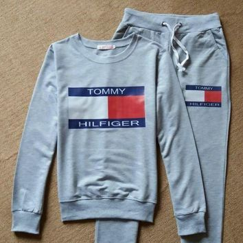 DCCKJ1A Tommy Hilfiger' Two-Piece Sweatshirt Sweater Pants Sweatpants F