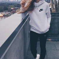NIKE Fashion Sport Hoodie Top Sweater Sweatshirt