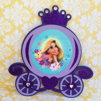 "25 ""Tangled"" Rupunzel Carriage birthday invitations"