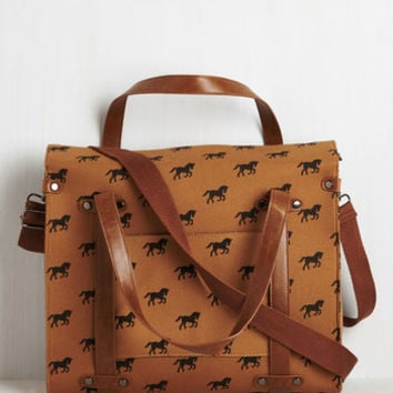 Quirky Camp Director Tote in Equine by ModCloth
