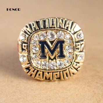 1997  Michigan Wolverines  replica championship rings men fashion zinc alloy jewelry #CRIESE BC159