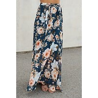 Dream In Color Maxi Skirt (Navy)