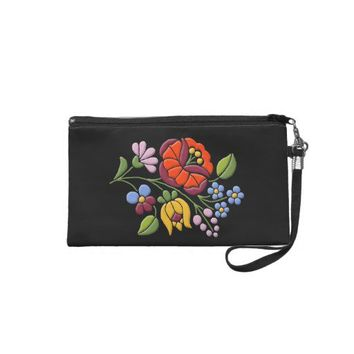 Kalocsa Embroidery - Hungarian Folk Art Wristlet Purse from Zazzle.com