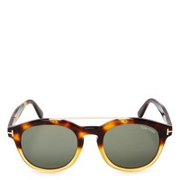 Tom Ford Newman Round Wayfarer Sunglasses, 53mm | Bloomingdales's