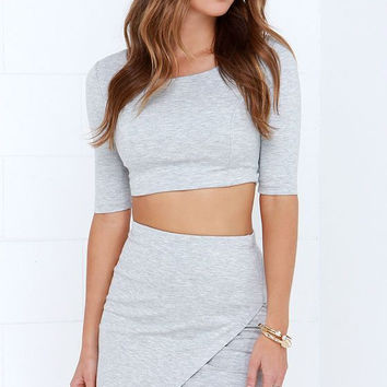 Simple - 2 piece Crop Top and Mini Skirt Dress c0010