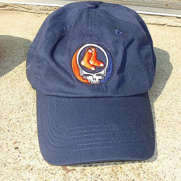 Steal Your Red Sox  Grateful Dead Style Baseball Cap Hat  BLUE