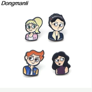 P2613 Dongmanli Riverdale stainless steel pierce Ear Stud Earrings For Womens Enamel earrings Jewelry Gifts for Girls
