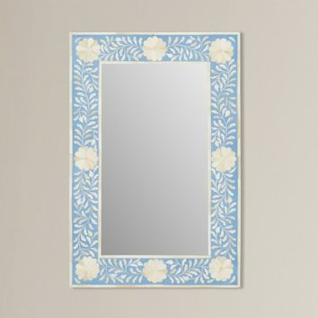 Brock Traditional Bone Inlay Accent Mirror