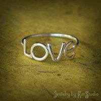 Love Ring  Handmade  Sterling Silver 925  Gift Box by Katstudio
