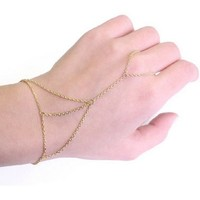 New Fashion Link Chain Ring Bracelet for Women