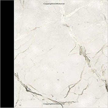 """JOURNAL: with """" white marble & silver vain """"on this trendy 7.5"""" X 9.25"""" 150 pages 