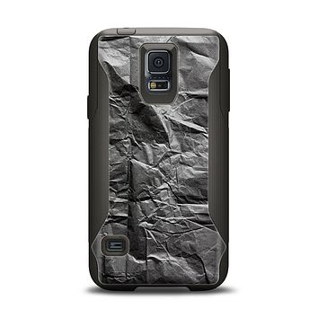 The Dark Black Wrinkled Paper Samsung Galaxy S5 Otterbox Commuter Case Skin Set