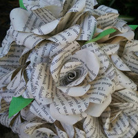 The Princess Bride Book Bouquet-Book lover gift-Book Bouquet-Book decor- Unique Gift- Bridal Bouquet- Paper Roses. 12 roses