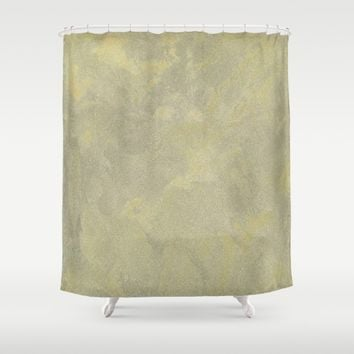 Modern Masters Metallic Plaster - Aged Gold and Silver Fox - Custom Glam Shower Curtain by Corbin Henry