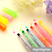 6 pcs/Lot Star Marker Color Highlighter pen for reading book Fluorescent drawing pen office material School supplies 6260-in Highlighters from Office & School Supplies on Aliexpress.com | Alibaba Group