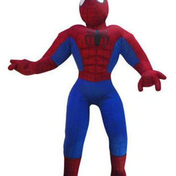 "Marvel 19"" Large Jumbo Spider-Man Spiderman Plush Stuffed Animal Toy-New!"