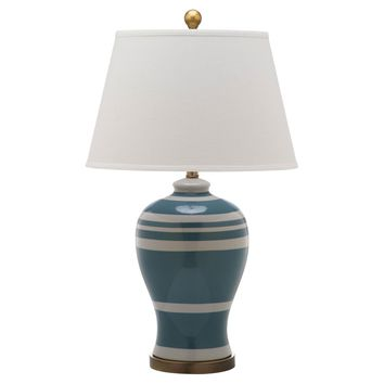 Hadley Cottage Stripe Lamp - Pair