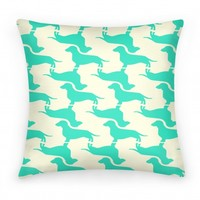 Wiener Dog Pattern Pillow