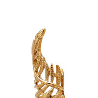 FOREVER 21 Dimpled Leaf Ring Gold