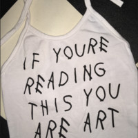SWEET LORD O'MIGHTY! YOU ARE ART HALTER IN WHITE