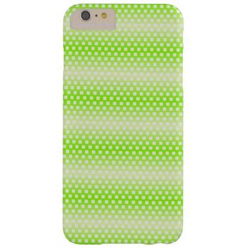 Bright Lime Green Pattern Barely There iPhone 6 Plus Case