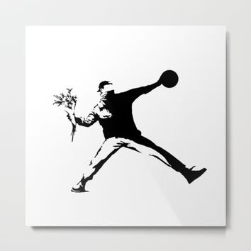 #TheJumpmanSeries, Banksy Metal Print by @thepeteyrich