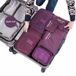 6 sets travel Organizers Packing Cubes Luggage Organizers Compression Pouches