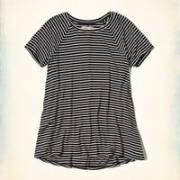 Stripe Raglan Swing T-Shirt