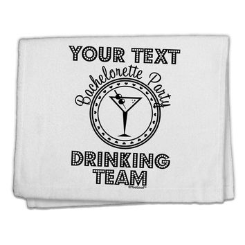 """Personalized -Name- Bachelorette Party Drinking Team 11""""x18"""" Dish Fingertip Towel"""