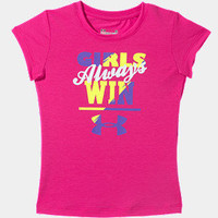 Pre-School UA Girls' Always Win T-Shirt | 1244586 | Under Armour US
