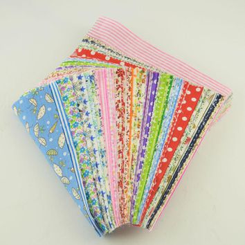Stash Patchwork Fabric Bundle 100% Cotton Twill Fabric Sewing for Quilting Baby Bibs Tilda Doll 10cmx12cm Random Color Materials