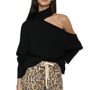 Brooklyn Karma Cutout Shoulder Turtleneck