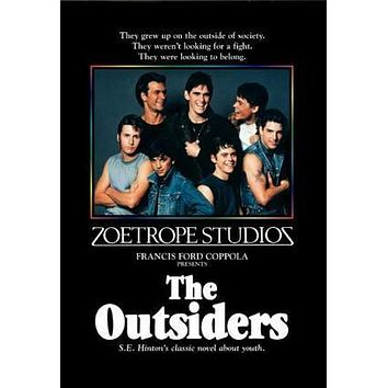 Outsiders The Movie poster Metal Sign Wall Art 8in x 12in