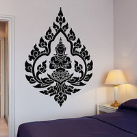 Buddha Wall Decal Yoga Om Buddhism Indian Zen Meditation Decor (z2665)