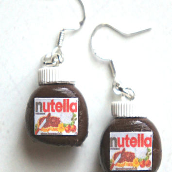 Nutella Jar Dangle Earrings