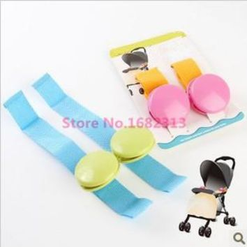 2015 hot sale 2pcs/lot baby stroller clip glossy multicolour blanket clip anti tipi clip