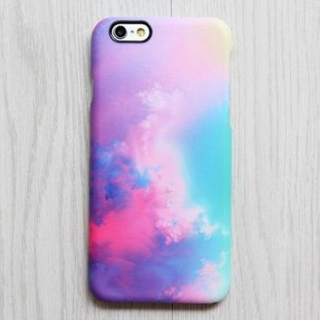 Pastel Turquoise Sky Rainbow  iPhone Case