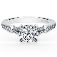 "Kirk Kara ""Stella"" Split Shank Diamond Engagement Ring"