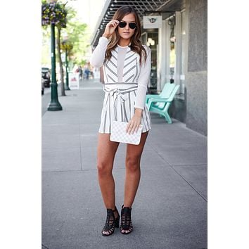 Never Miss A Beat Romper (White)