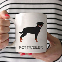 Rottweiler Coffee Mug - Rottweiler Ceramic Mug  - Dog Mug - Gift for Coffee Lovers - Rottweiler Lover Gift - Rottweiler Mug - Dog Breed Mug