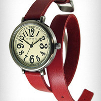 Crimson Cavalry Double-Wrap Watch