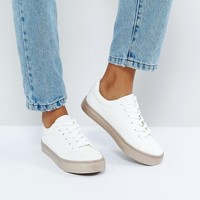 New Look Rose Gold Sole Trainer at asos.com