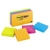 Post-it® Notes Super Sticky Pads in Jewel Pop Colors, Ninety 2 x 2 Sheets, 8 Pads/Pack