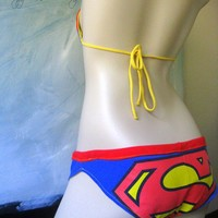 Superman 4 Brazilian Bikini Shorts 3032 Hips by riggsandpulley